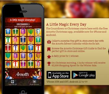 Arnotts Gift App
