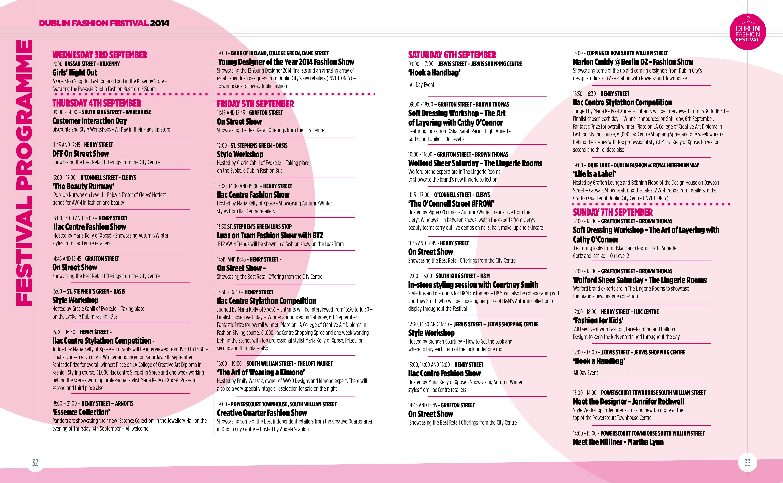 Young Designer of the Year 2014 Fashion Show Dublin Fashion Festival – Event Program