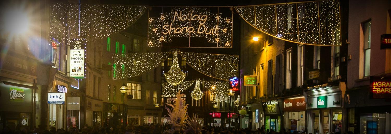 grafton street christmas lights switch on dublintown