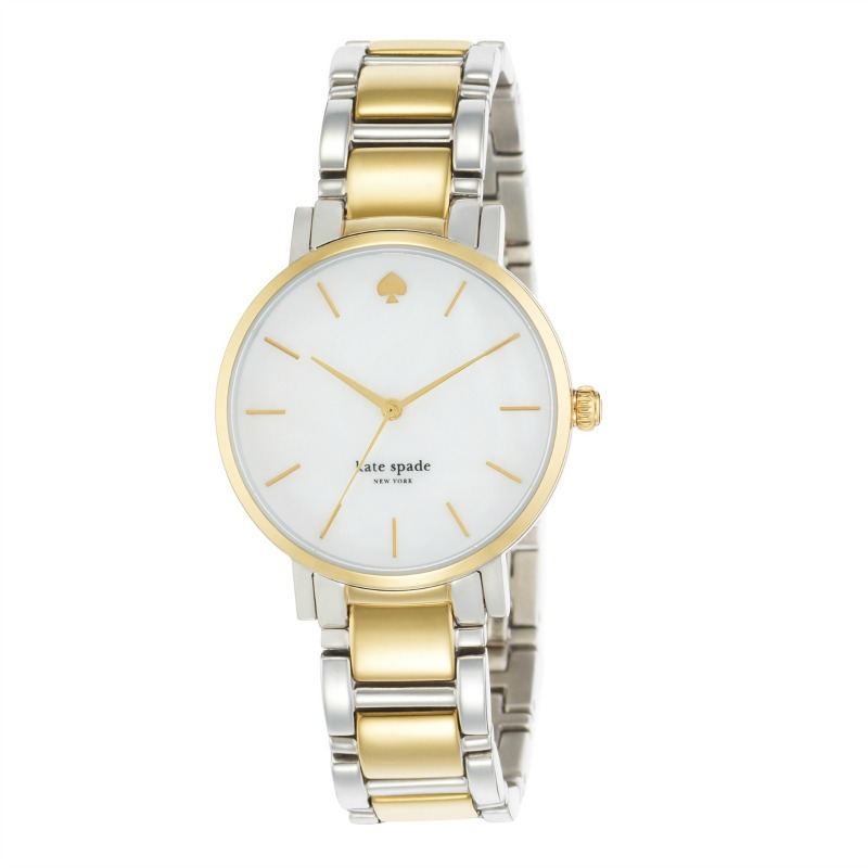 ARNOTTS KATE SPADE LADIES 'GRAMERCY' STAINLESS STEEL TWO TONE BRACELET WATCH E281