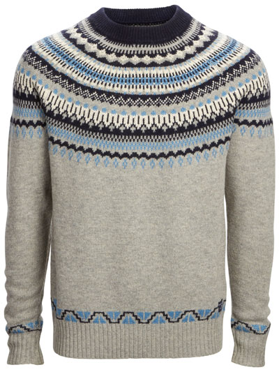 ARNOTTS SELECTED HOMME CREW NECK PATTERN SWEATER E69.95