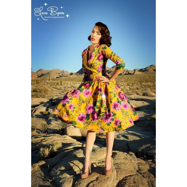Vintage dresses floral-swing-dress