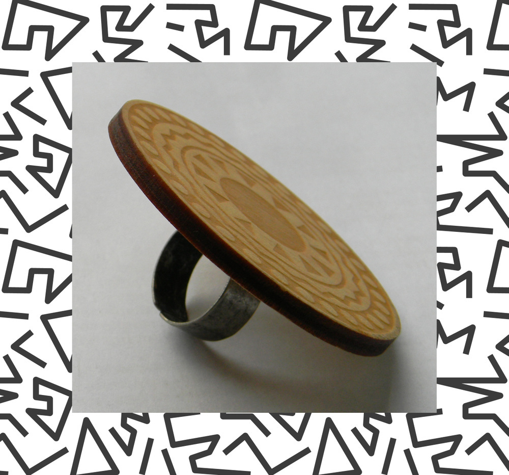 Wooden Tribal Ring_Side_Aztec