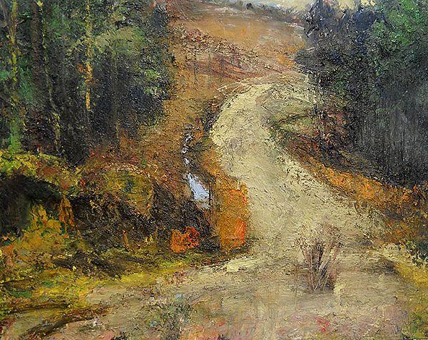 high road 60x70cm oil-cat