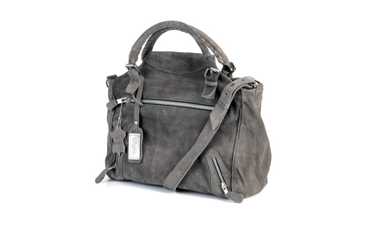 Buffalo Suede Bag in Gris€150.00