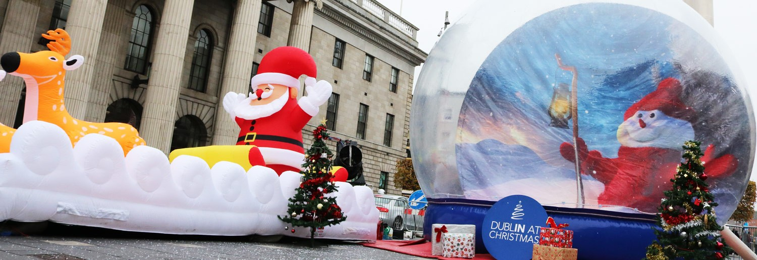 Giant Snow Globe on O'Connell Street