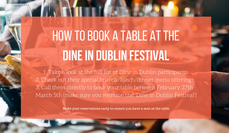 Dine In Dublin Booking
