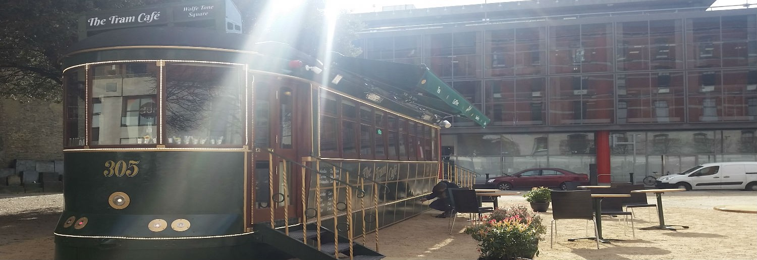 New Vintage Tram Cafe on Wolfe Tone Square