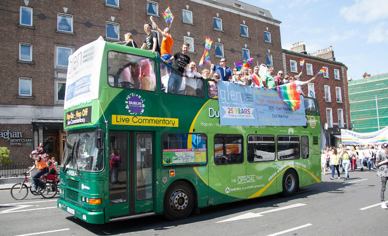 Dublin Bus Sightseeing pride