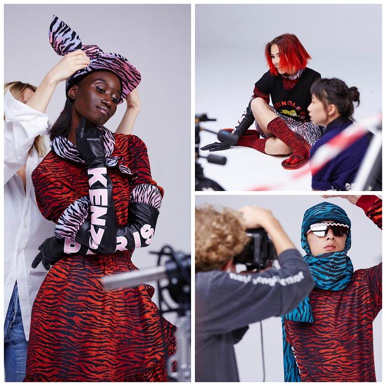 KENZO x H&M designer collaboration BTS