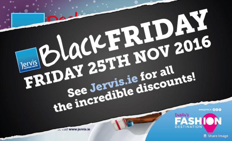 Black Friday at Jervis Shopping Centre