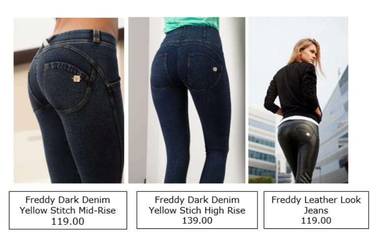 ea1894f0230e40 The USP of the jeans are that they are made from 70% cotton and 30% stretch  feeling more like a thick legging but looking like a jean. Freddy Jeans  have ...