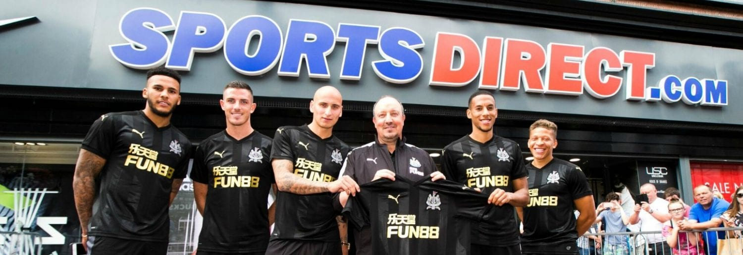 Newcastle United in Sports Direct Dublin