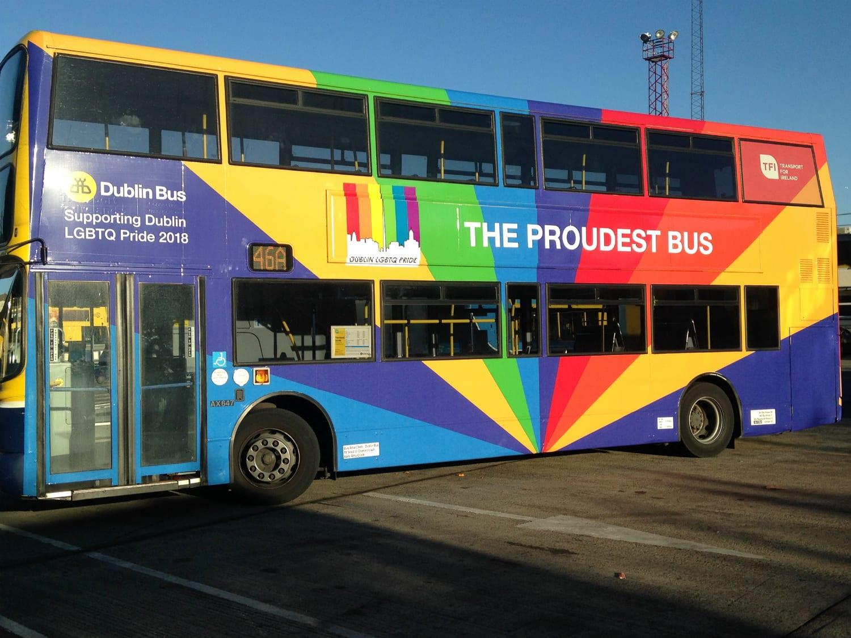 The Proudest Dublin Bus Will Lead the Dublin Pride Parade