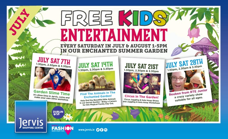 Fun For the Kids This Summer at Jervis Shopping Centre