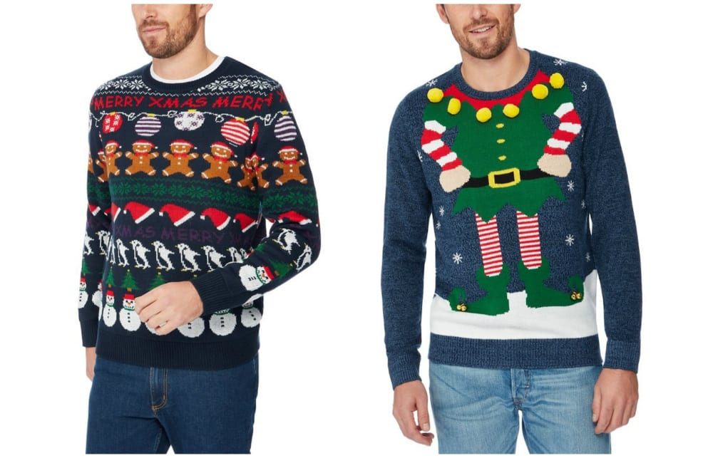 0ad5969d6494 We particularly like the funky Red Herring Navy Elf Knit Christmas Jumper  (€38) and the Red Herring Navy Novelty Rows Knit Christmas Jumper (€38).