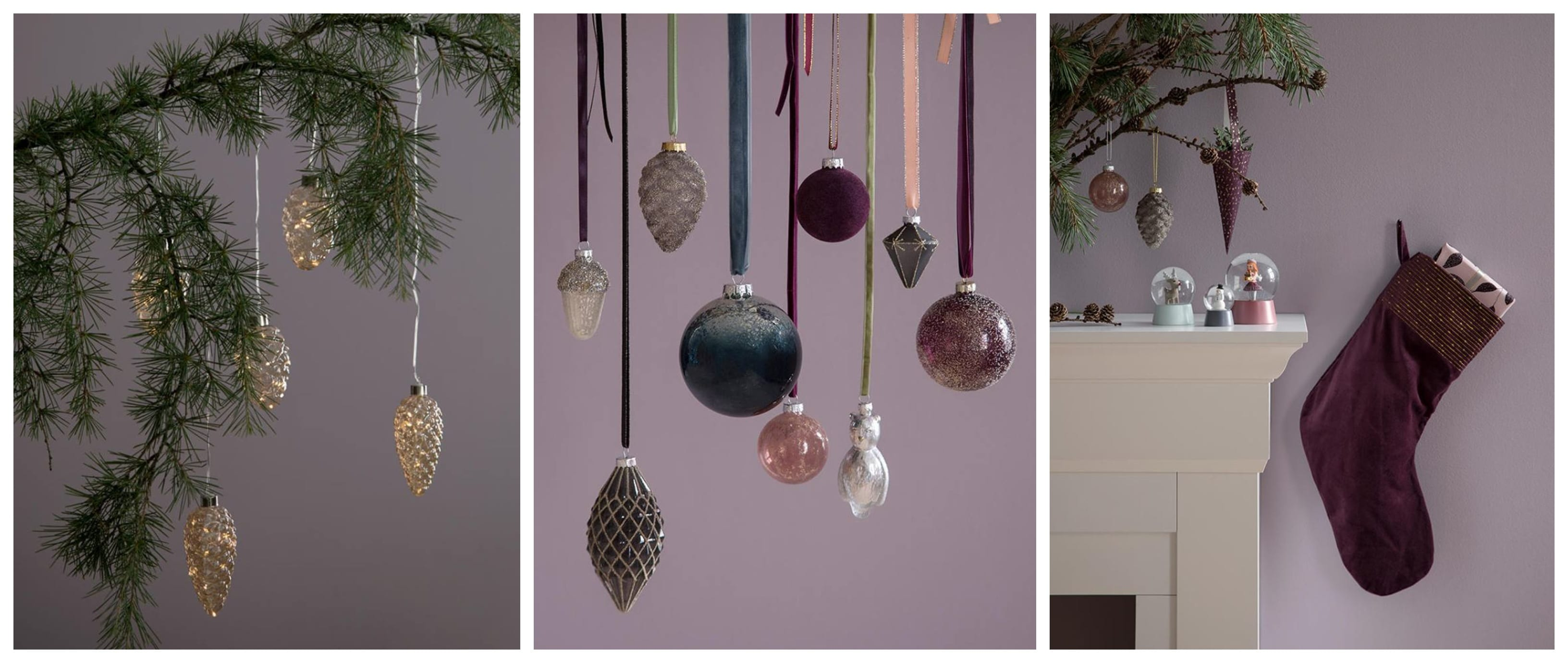 Christmas Tree LED Lights €3.44, Baubles €1.82 Each, Stocking €9.68