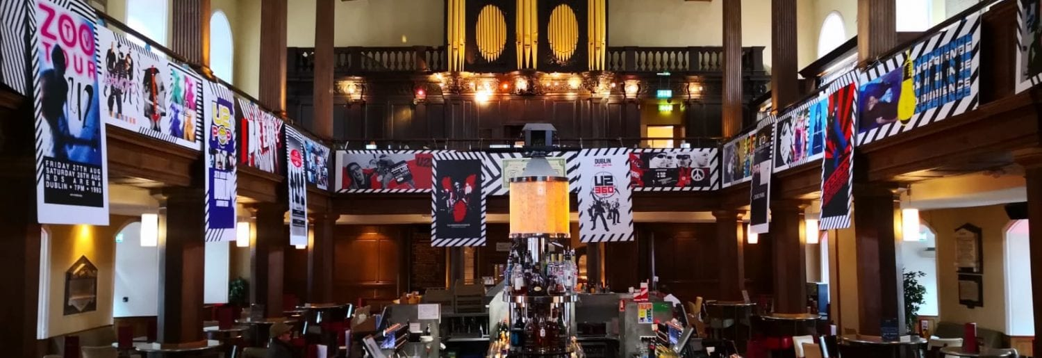 U2 exhibition and event at The Church Bar Dublin