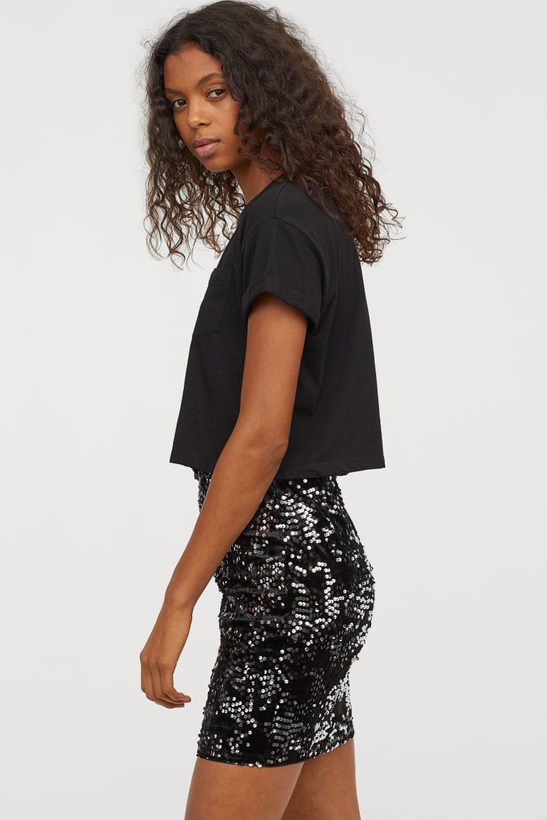 River Island Brushed Velvet Mini Skirt
