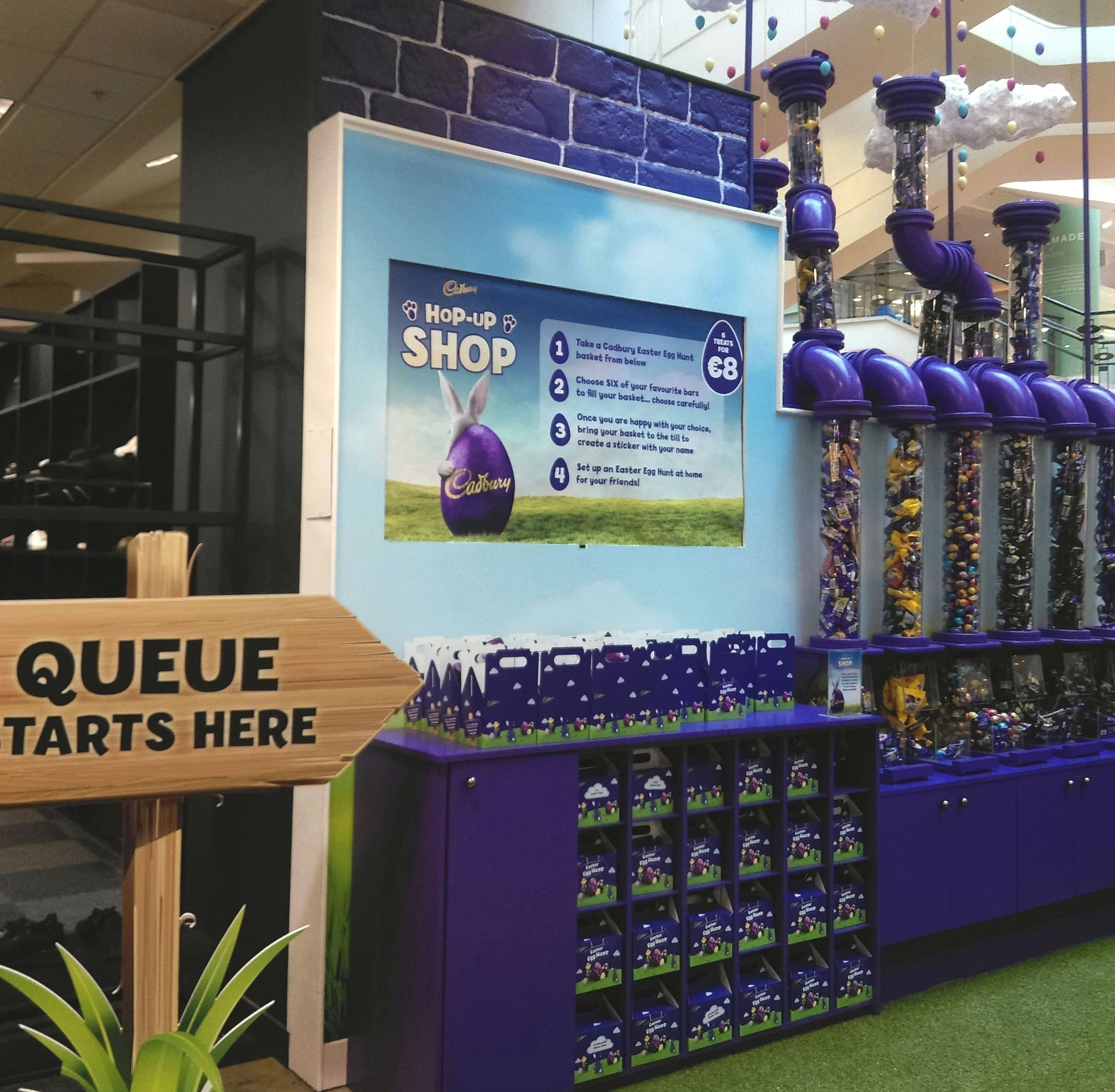 4d6a2575794f3 You can also sit on a giant purple Easter egg for a fun, family photo  opportunity! While you're in Arnotts, you can also visit the face painters  in the ...